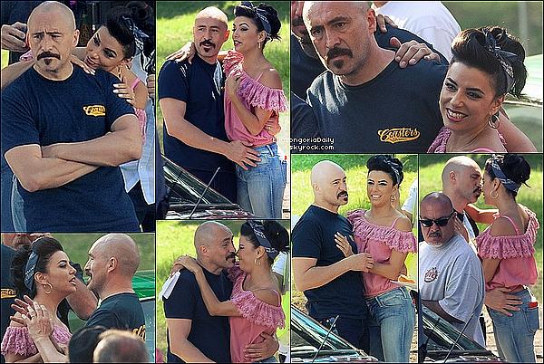 🎥 Eva était sur le Tournage de Low Riders avec Demian Bichir.  22 Juin 2015. Los Angeles, États-Unis.
