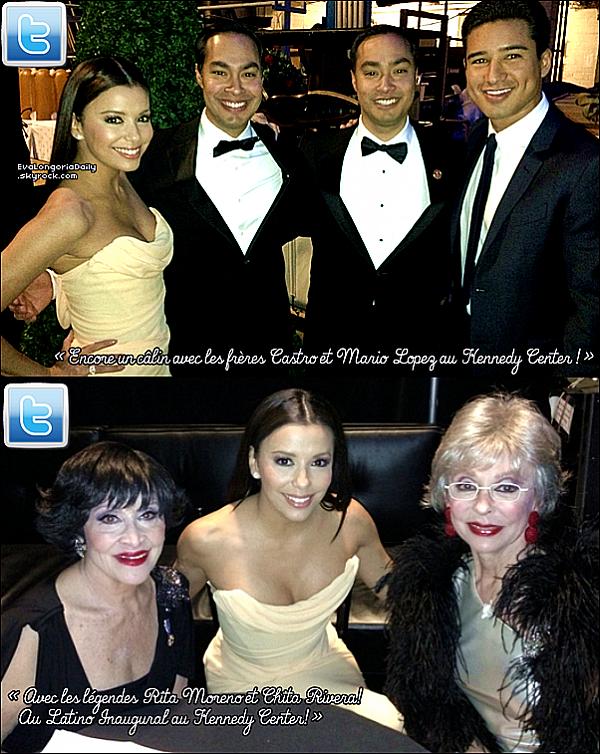 ✴️ Puis, Eva est allée au Latino Inaugural 2013 qui avait lieu au Kennedy Center. 2o Janvier 2013. Washington - Etats-Unis. Tenue: Eva porte une Robe Vivienne Westwood à 1600¤ & des Escarpins Brian Atwood à 735¤.