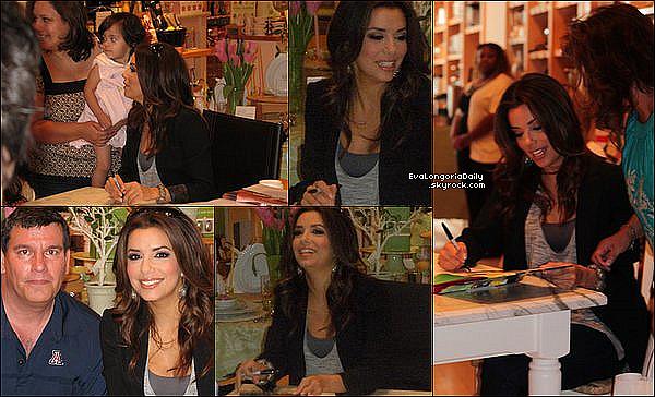 • 1o Avril 2o11 •  - Dallas, Etats-Unis. 📖 Eva était au « Williams Sonoma Store » pour une séance de dédicaces de son livre Eva's Kitchen.