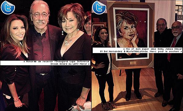 • o6 Octobre 2o13 •  - Los Angeles, Etats-Unis. 🎥 Le soir, Eva est allée sur le « Tournage de HolaLA Talk ».