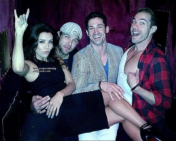 • 16 Mars 2o13 •  - Beverly Hills, Etats-Unis. 🎂 Le soir, Eva est allée fêter son anniversaire au « Club Boosty Bellows » avec des amis.  Tenue: Escarpins Christian Louboutin à 94o¤.