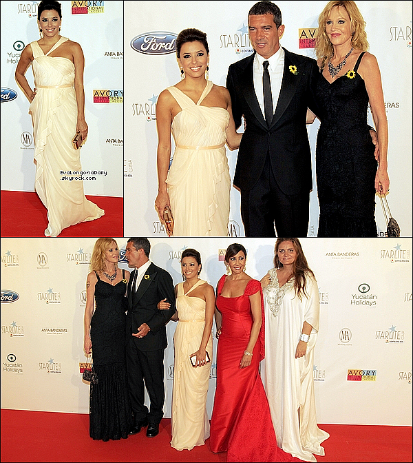 ✴️ Eva est allée à L'Hôtel Padierna pour le Starlite Charity Gala. o6 Août 2o11, Marbella - Espagne. Tenue: Eva porte une Robe J.Mendel & des Escarpins Christian Louboutin.