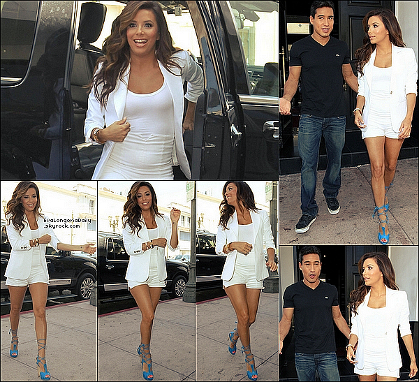• 14 Août 2o11 •  - Santa Monica, Etats-Unis. 🚶 Eva a été vue quittant un « Rendez-Vous Professionnel ».  Tenue: Sac Hermès à 185oo¤.