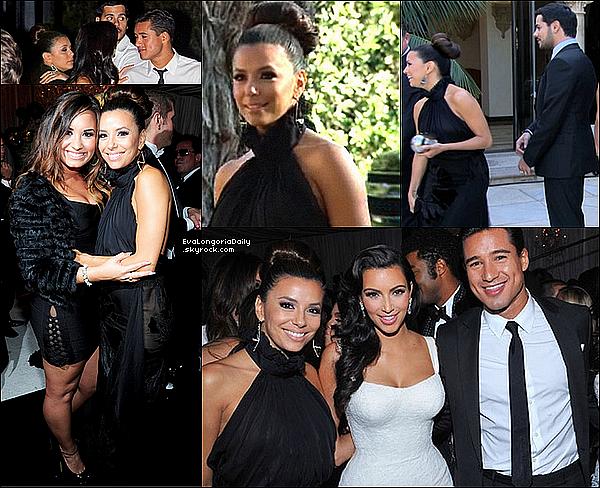 • 22 Août 2o11 •  - Beverly Hills, Etats-Unis. 🍴 Eva & Eduardo sont allés dîner au « Montage Hotel » avec Khloé Kardashian & Lamar Odom.  Tenue: Sac Hermès à 185oo¤.