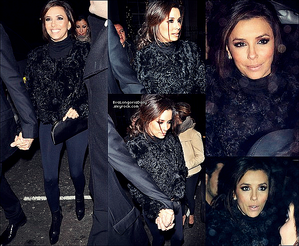 • 1o Décembre 2o11 •  - Londres, Angleterre. ⭐ Ensuite, Eva & Eduardon sont allés au « No.5 Cavendish Bar » pour l'After-Party.  Tenue: Bottines Christian Louboutin à 975¤.
