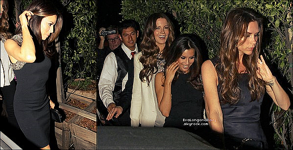 • 17 Mars 2o12 •  - Los Angeles, Etats-Unis. 🍴 Eva & Amaury Nolasco sont allés dîner au « STK Restaurant ».  Tenue: Pull Splendid à 75¤, Pantalon Citizens of Humanity à 155¤ & Sac Hermès à 185oo¤.