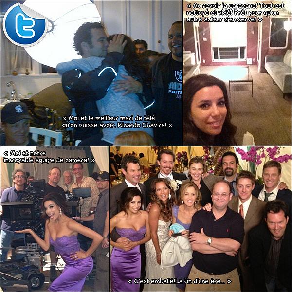 • 27 Avril 2o12 •  - Los Angeles, Etats-Unis. 🎥 Eva est allée sur le « Tournage de Desperate Housewives » pour la dernière fois.