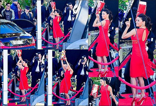 • 12 Janvier 2o13 •  - Beverly Hills, Etats-Unis. ⭐ Le soir, Eva est allée au « Montage Hotel » pour le « Help Haiti Home ».  Tenue: Robe Emilio Pucci, Pochette Yves Saint-Laurent & Escarpins Casadei.