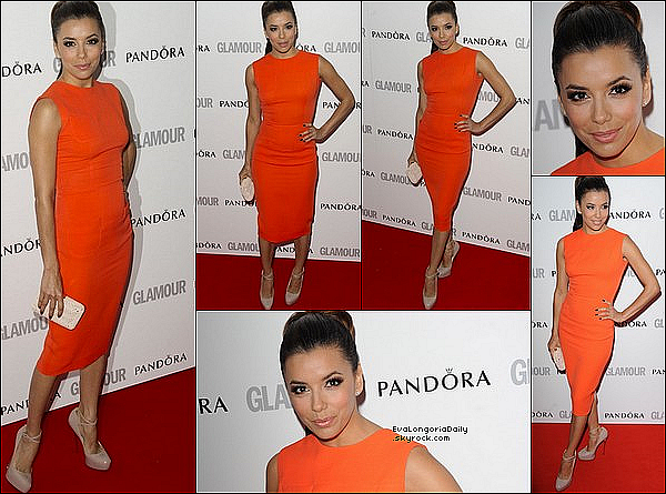 • 28 Mai 2o12 •  - Paris, France. ⭐ Enfin, Eva est allée au « Glamour Women of the Year Awards ».  Tenue: Robe Victoria Beckham, Pochette Salvatore Ferragamo & Escarpins Brian Atwood.