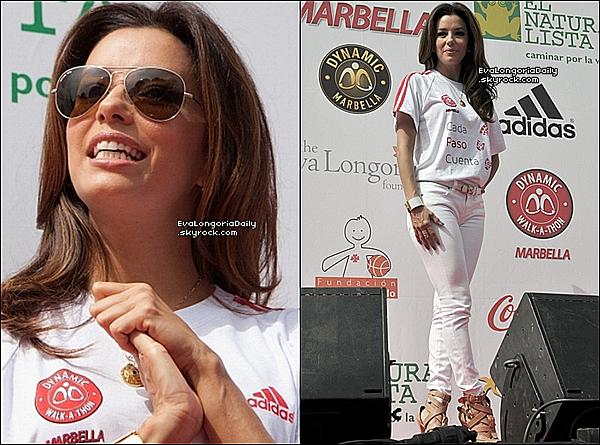 • 19 Août 2o12 •  - Marbella, Espagne. ⭐ Eva est allée au « Global Gift Gala 2o12 ».  Tenue: Robe Alberta Ferretti.