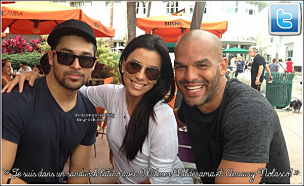 • o5 Janvier 2o13 •  - North Hollywood, Etats-Unis. ☕ Eva est allée au « Starbucks Coffee ».  Tenue: Lunettes Gucci à 225¤, Sac Balenciaga à 595¤ & Tongs Yosi Samra à 5o¤.