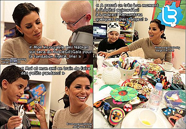 • o7 Décembre 2o12 •  - Londres, Angleterre. 🏥 Eva est allée rendre visite à un « Hopital pour Enfants ».