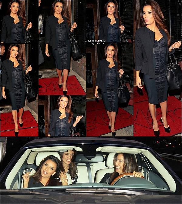 • 26 Avril 2o13 •  - West Hollywood, Etats-Unis. 🍴 Eva & Mario Lopez sont allés dîner au « Chateau Marmont Restaurant ».  Tenue: Pull Heartloom à 9o¤.