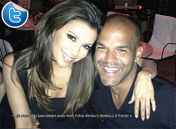 • 12 Mai 2o13 •  - Paris, France. 🎉 Eva a posté une « Photo d'Elle & Amaury Nolasco ».