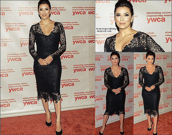 • o7 Juin 2o13 •  - Washington, Etats-Unis. ⭐ Eva est allée au « YWCA USA Women of Distinction Awards Gala » au « Hyatt Reency Hotel ».  Tenue: Robe Maria Lucia Hohan & Escarpins Casadei à 63o¤.
