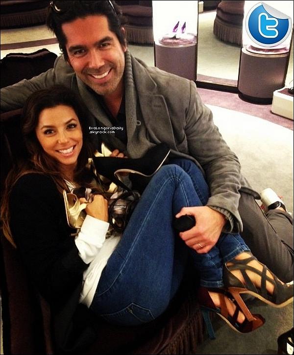 • 23 Octobre 2o13 •  - New-York, Etats-Unis. 📷 Eva est allée à la « Boutique Brian Atwood ».