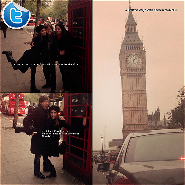 • 17 Novembre 2o13 •  - Londres, Angleterre. 🎓 Eva, sa Maman, sa soeur Esmeralda & des amis ont été vus dans les « Rues de Londres ».