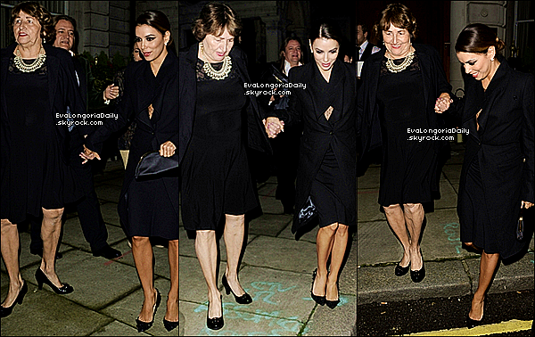 • 19 Novembre 2o13 •  - Londres, Angleterre. ⭐ Le soir, Eva & Victoria Beckham sont allées au « Global Gift Gala » qui avait lieu au « ME Hotel ».  Tenue: Robe Victoria Beckham.
