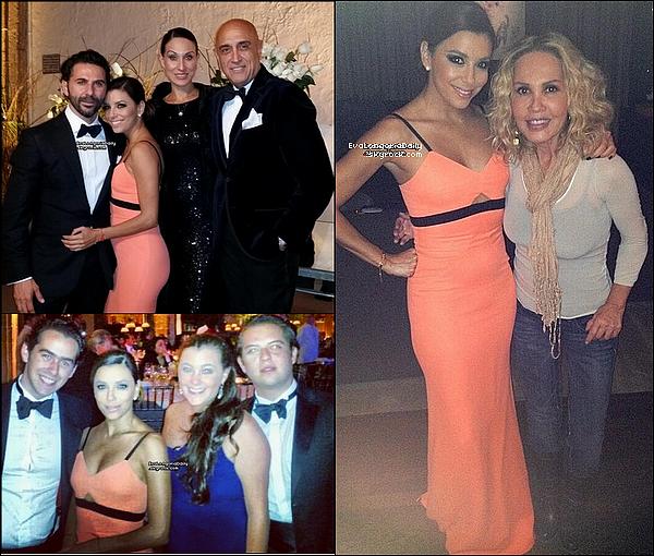 • o7 Décembre 2o13 •  - Mexique. 💍 Eva & Jose Antonio sont allés à un « Mariage ».  Tenue: Robe Victoria Beckham.