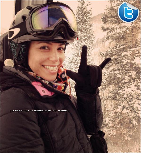 🚘 Eva a posté une photo d'elle Faisant du Ski.  24 Décembre 2013. Colorado - Etats-Unis.