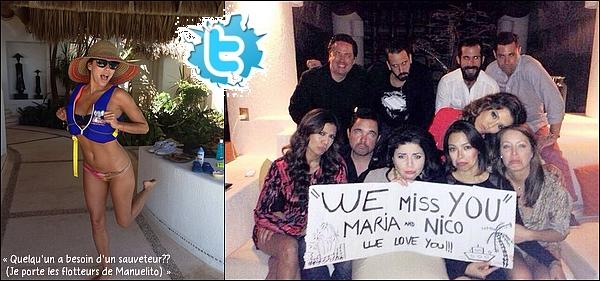 🌴 Eva, Alina, Manuel, Bonnie, Adam & des amis ont posté des photo d'eux à Acapulco.   01 Janvier 2014. Acapulco, Mexique. Tenue: Eva porte des lunettes Christian Dior à 245¤.