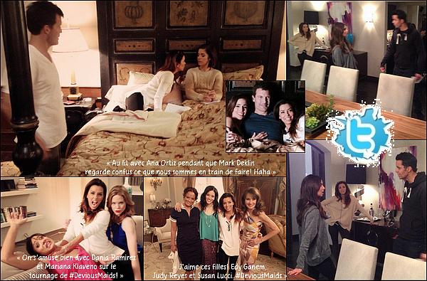 • 22 Janiver 2o14 •  - Atlanta, Etats-Unis. 🎥 Eva était sur le « Tournage de Devious Maids » avec Ana Ortiz, Dania Ramirez, Mariana Klaveno, Susan Lucci, Edy Ganem, Judy Reyes, Matt Cedeño & Mark Deklin.
