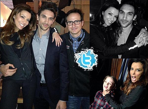 • 26 Janiver 2o14 •  - Miami, Etats-Unis. ⭐ Le soir, Eva & Pepe sont allés au « Endemol North America NATPE 2014 Party » qui avait lieu au « Fontainebleau Resort Hotel ».