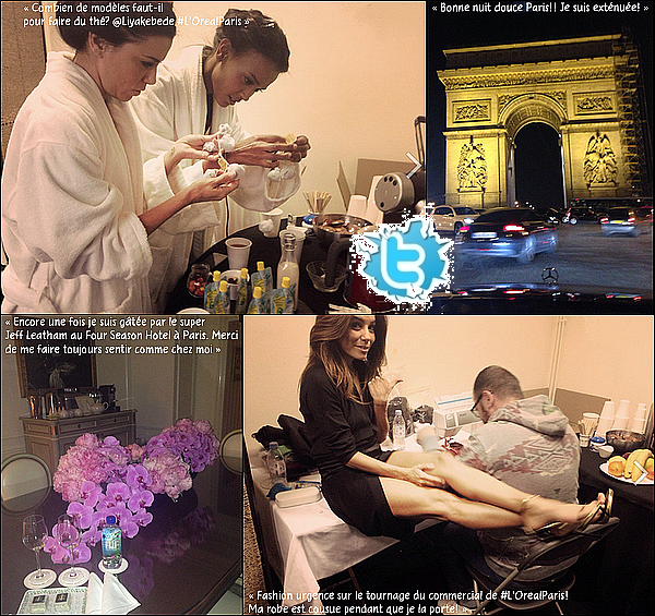 • o7 Février 2o14 •  - Los Angeles, Etats-Unis. 🎥 Eva a posté une « Photo du Tournage de Devious Maids & d'un Photoshoot ».