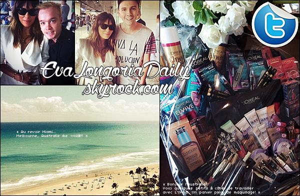 • 17 Mars 2o14 •  - Melbourne, Australie. 🎤 Eva a donnée une « Interview » pour une Chaîne Télé Australienne.