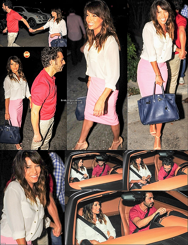 🚗 Eva & Jose Antonio ont été vus quittant leur hôtel. 02 Mai 2014, Miami, Etats-Unis. Tenue: Eva porte des Lunettes Ray-Ban à 150¤, un Sac Hermes à 18500¤ & des Sandales Casadei.