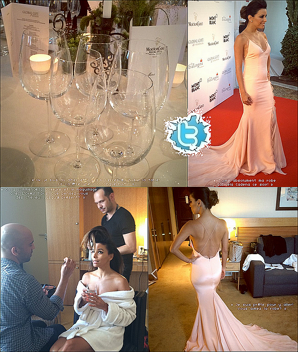 • 17 Mai 2o14 •  - Cannes, France. 🍴 Le soir, Eva & Amaury Nolasco sont allés au « Yo'mo Lounge Restaurant ».  Tenue: Robe Three Floora à 54o¤.