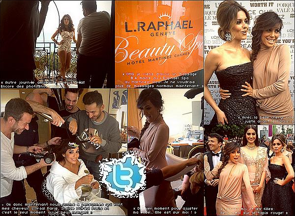 • 19 Mai 2o14 •  - Cannes, France. ⭐ Eva est allée à la « Première de Foxcatcher » durant le « 67th Annual Cannes Film Festival ».  Tenue: Robe Vionnet & Escarpins Brian Atwood.