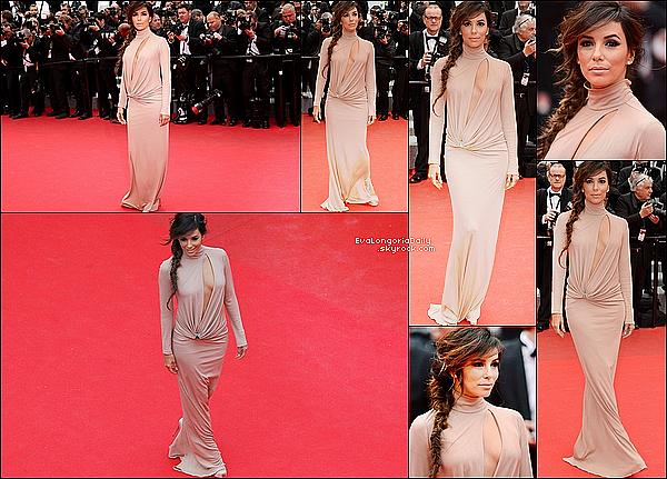 📷🍴  Eva était au 67th Annual Cannes Film Festival pour la Première de Foxcatcher. 19 Mai 2014, Cannes, France. Tenue: Eva porte une Robe Vionnet & des Escarpins Brian Atwood.