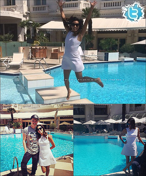 • 2o Mai 2o14 •  - Antibes, France. ⭐ Eva est allée à la « Vanity Fair Party » au « Tetou Restaurant ».  Tenue: Robe Zuhair Murad.