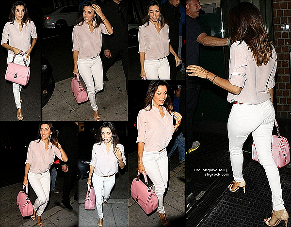 • 22 Mai 2o14 •  - Beverly Hills, Etats-Unis. 🍴 Le soir, Eva & Pepe sont allés dîner à « Mr Chow Restaurant ».  Tenue: Jeans Henry&Belle à 225¤ & Sac Dolce&Gabbana.