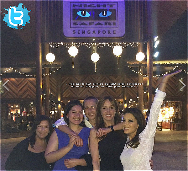 • 28 Mai 2o14 •  - Singapour. 🐼 Le soir, Eva est allée au « Night Safari Singapore ».