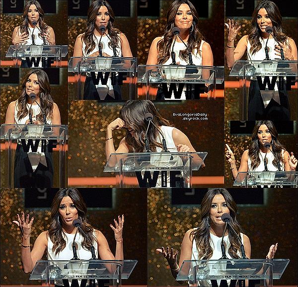 🏆 Eva était au Women In Film 2014 Crystal + Lucy Awards au Hyatt Regency Century Plaza.  11 Juin 2014, Century City, Etats-Unis. Tenue: Eva porte une Combinaison Max Mara & des Escarpins Christian Louboutin à 670¤.