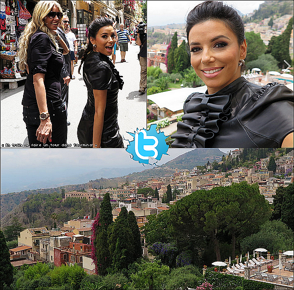 • 17 Juin 2o14 •  - Taormina, Italie. ⭐ Enfin, Eva est allée au « 60th Taormina Film Festival » avec Mélanie Griffith.  Tenue: Robe Pamella Roland.
