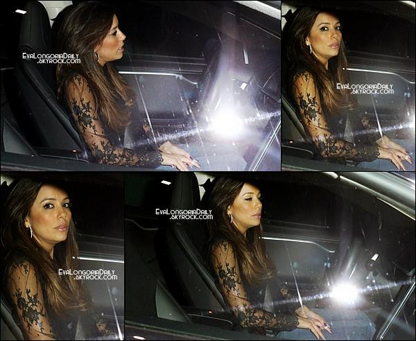 • 26 Juin 2o14 •  - West Hollywood, Etats-Unis. 🍴 Le soir, Eva est allée dîner au « Chateau Marmont Restaurant ».
