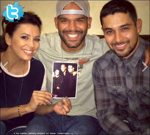 • o2 Juillet 2o14 •  - Los Angeles, Etats-Unis. 📷 Eva a posté une « Photo d'Elle, Amaury Nolasco & Wilmer Valderama ».