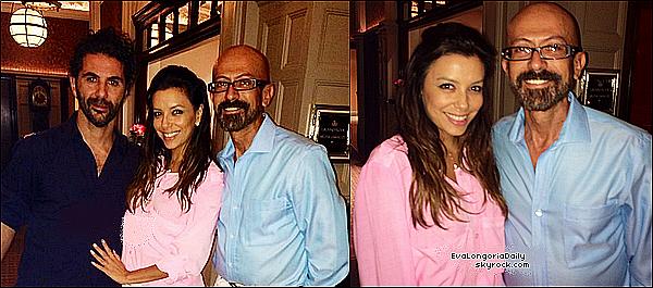 • 17 Juillet 2o14 •  - Marbella, Espagne. 🛍️ Puis, Eva & des amies sont allées « Faire du Shopping ».  Tenue: Lunettes Ray-Ban à 22o¤, Pochette Balenciaga à 595¤ & Sandales Chanel.