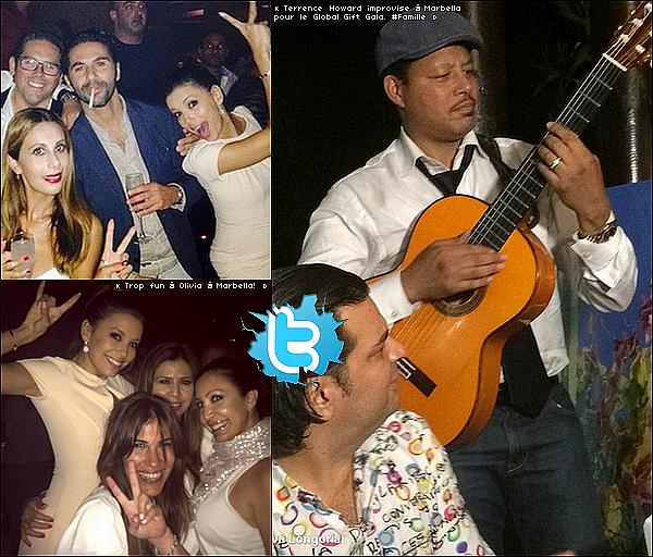 • 19 Juillet 2o14 •  - Marbella, Espagne. 🎉 Le soir, Eva, Pepe & sa famille sont allés au « Olivia Valère Nightclub ».