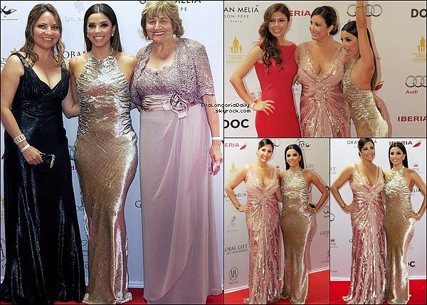 ✴ Le soir, Eva s'est rendue au Global Gift Gala. 2o Juillet 2014. Marbella, Espagne. Tenue: Eva porte une Robe Reem Acra & des Escarpins Stuart Weitzman.