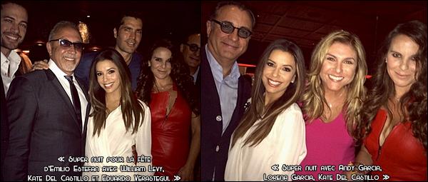 • 24 Juillet 2o14 •  - Los Angeles, Etats-Unis. 🎉 Eva est allée à une soirée « Chez Emilio Estefan ».