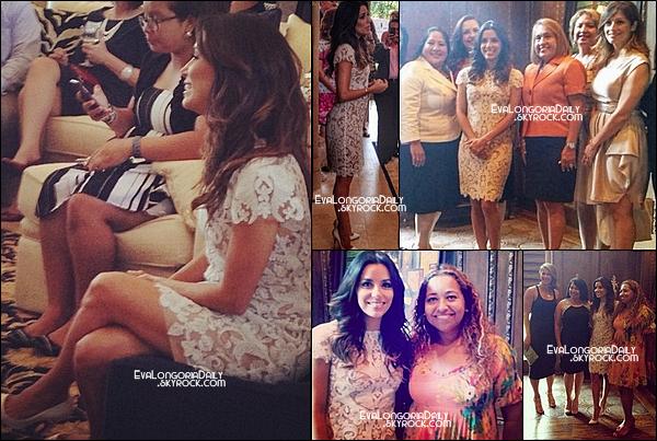 • 25 Juillet 2o14 •  - Dallas, Etats-Unis. ⭐ Enfin, Eva est allée au « Accion Texas Awards ».  Tenue: Escarpins Christian Louboutin.