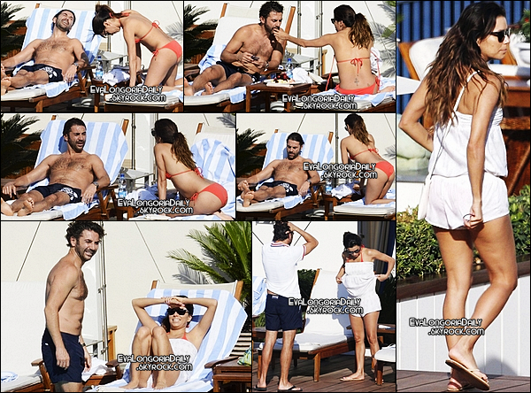 🍴 Eva est allée dîner à Aurora Restaurant. 31 Juillet 2014. Capri - Italie. Tenue: Eva porte une Robe Show Me Your Mumu à 110¤.