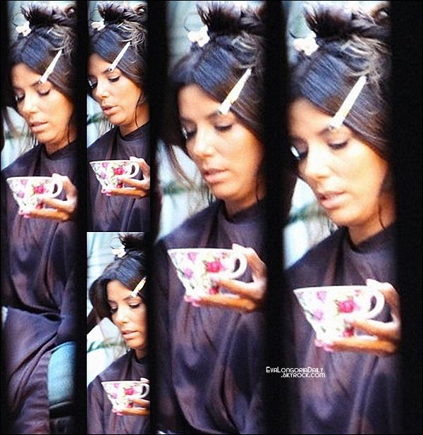 • 24 Août 2o14 •  - Beverly Hills, Etats-Unis. 💇 Eva a été vue au « Ken Paves Salon ».