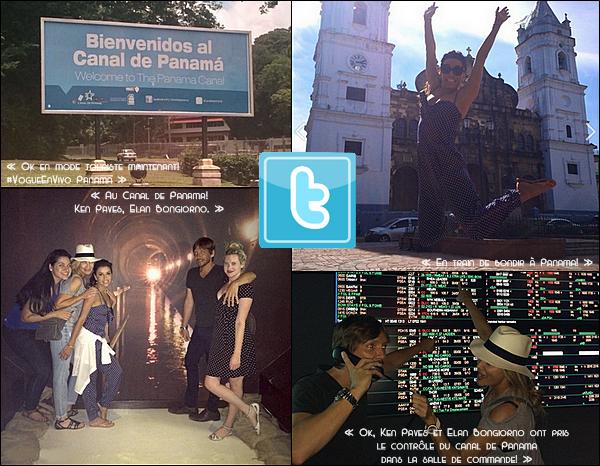 • 28 Août 2o14 •  - Panama. 🍴 Enfin, Eva, Ken Paves & Elan Bongiorno sont allés « Dîner au Restaurant ».