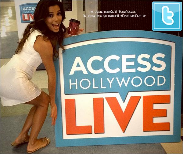 • o2 Septembre 2o14 •  - Los Angeles, Etats-Unis. 📺 Eva est allée sur le plateau de l'émission « Access Hollywood Live ».