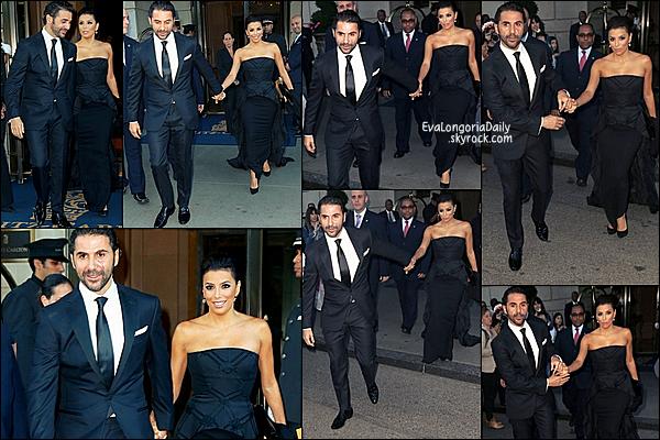 🍴 Eva & Robert Verdi sont allés dîner au restaurant.  23 Septembre 2014, New-York - Etats-Unis.